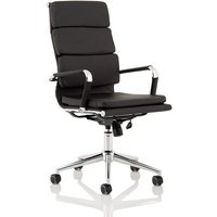 Product photograph showing Pinkard Bonded Leather Executive Chair In Black With Wheels