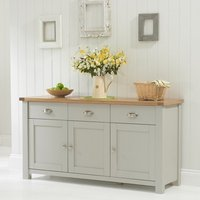 Platina Wooden Sideboard In Grey And Oak With 3 Doors