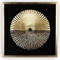 Product photograph showing Plato Painting Glass Wall Art In Gold Wooden Frame