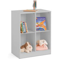Product photograph showing Pluto Wooden Cube Bookcase In Dove Grey