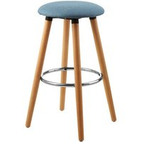 Product photograph showing Porrima Fabric Round Seat Bar Stool In Blue