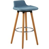 Product photograph showing Porrima Fabric Seat Bar Stool In Blue