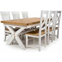 Portland Extending Dining Set With 6 Chairs