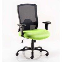 Portland HD Black Back Office Chair With Myrrh Green Seat