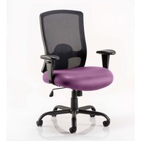 Product photograph showing Portland Hd Black Back Office Chair With Tansy Purple Seat