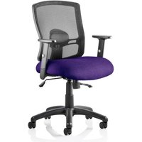 Product photograph showing Portland Ii Black Back Office Chair With Tansy Purple Seat