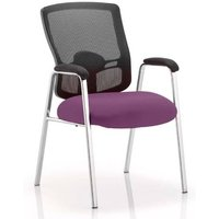 Product photograph showing Portland Straight Leg Visitor Chair With Tansy Purple Seat