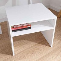 Product photograph showing Potomac Wooden Ladder Desk Stool In White