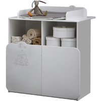 Product photograph showing Prague Childrens Chest Of Drawers In White With Changing Unit