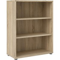 Product photograph showing Prax 2 Shelves Open Home And Office Bookcase In Oak