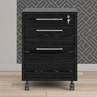 Product photograph showing Prax Mobile Office Pedestal Drawers In Black
