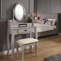 Product photograph showing Prestige Contemporary Dressing Table Set In Grey