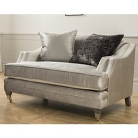 Product photograph showing Preston Contemporary Snuggle Chair In Grey Velvet