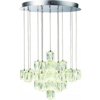 Prisma 30 Cluster Pendant Light With Cool White Bulb