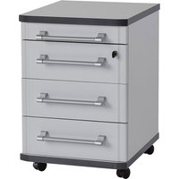 Product photograph showing Profi Rolling Container With Drawers In Light Grey