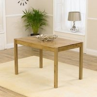 Product photograph showing Promin Large Wooden Dining Table In Oak
