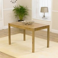Product photograph showing Promin Small Wooden Dining Table In Oak