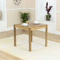 Product photograph showing Promin Square Wooden Dining Table In Oak