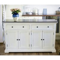 Product photograph showing Provik Classic Sideboard In White Distress And Deep Brown