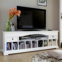 Product photograph showing Proviko Wooden Tv Stand In Classic White