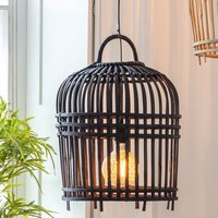 Product photograph showing Pueblo Wall Light With Charcoal Wooden Cage