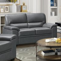 Product photograph showing Rachel Leathergel And Pu 2 Seater Sofa In Grey