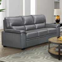 Product photograph showing Rachel Leathergel And Pu 3 Seater Sofa In Grey
