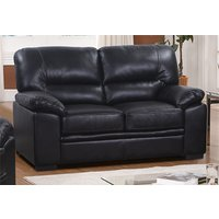 Product photograph showing Rachel Leathergel And Pu 2 Seater Sofa In Black