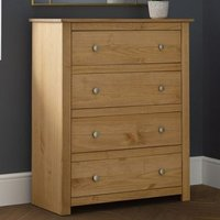 Radley Wooden Chest Of Drawers In Waxed Pine With 4 Drawers