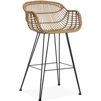 Rafferty Carver Wooden Bar Stool