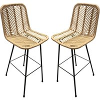 Rafferty Wooden Bar Stool In Pair