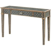 Product photograph showing Ralston One Drawer Console Table In Aztec And Peruvian Design