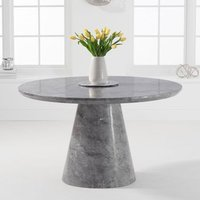 Ramita Round Marble Dining Table In Grey
