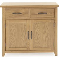 Ramore Small Wooden Sideboard In Natural With 2 Doors 2 Drawers