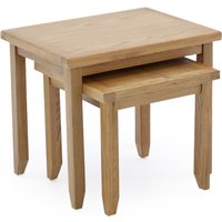 Product photograph showing Ramore Wooden Nest Of Tables In Natural