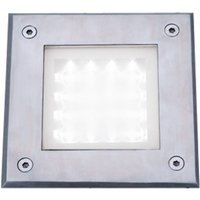 Recessed Square Walkover Light In Stainless Steel