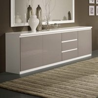 Product photograph showing Regal Sideboard In White And Grey With High Gloss Lacquer