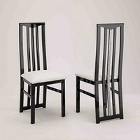 Product photograph showing Regal Dining Chair In Black And White With Crystal Details