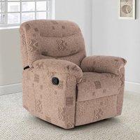 Regency Leather Recliner Chair In Bronze Brown
