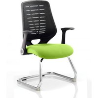 Relay Black Back Office Visitor Chair With Myrrh Green Seat
