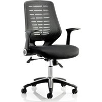 Product photograph showing Relay Task Black Back Office Chair With Airmesh Black Seat