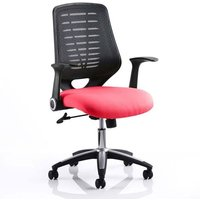 Product photograph showing Relay Task Black Back Office Chair With Bergamot Cherry Seat