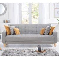 Resita Linen Fabric Upholstered Sofa Bed In Grey