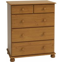 Richmond Wooden Chest Of Drawers In Pine With 5 Drawers