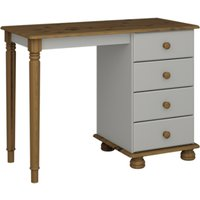 Product photograph showing Richmond Wooden Dressing Table In Grey And Pine With 4 Drawers