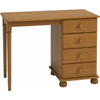Product photograph showing Richmond Wooden Dressing Table In Pine With 4 Drawers