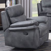 Richmond Fabric Recliner Sofa Chair In Charcoal Grey