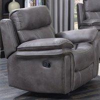 Richmond Fabric Recliner Sofa Chair In Graphite Grey