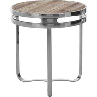 Mintaka Pine Wood Round Side Table In Natural