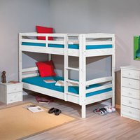 Product photograph showing Rick Wooden Bunk Bed In White